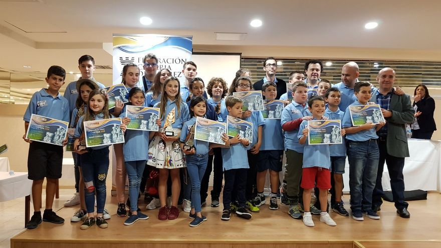 Representantes  de La Palma en el Campeonato de Ajedrez de Canarias de Edades.