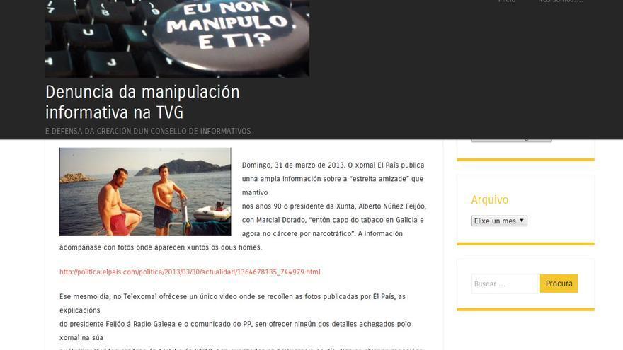 Web del comité de empresa de la TVG