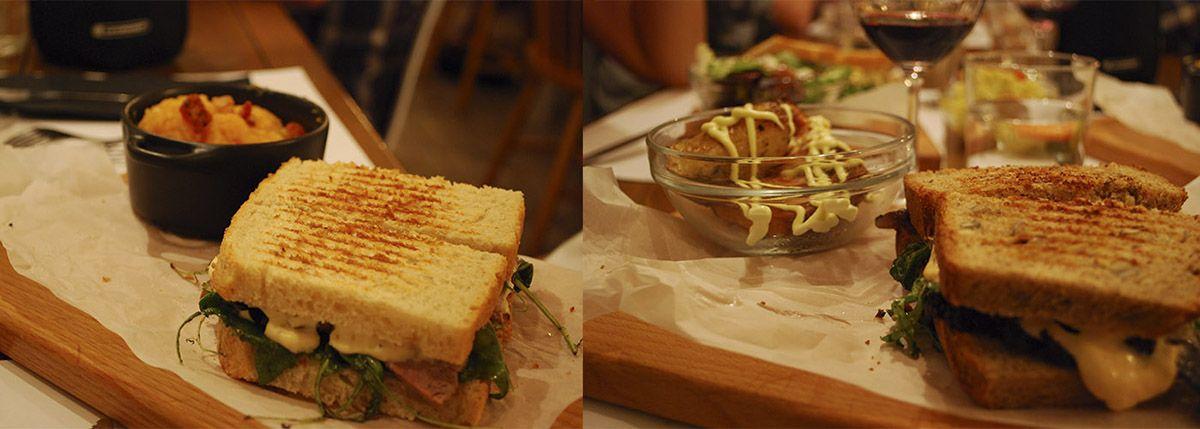 Díptico sándwich de roasbeef y sándwich de sardinas al sumak
