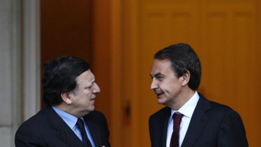 Zapatero recibe a Barroso en Moncloa