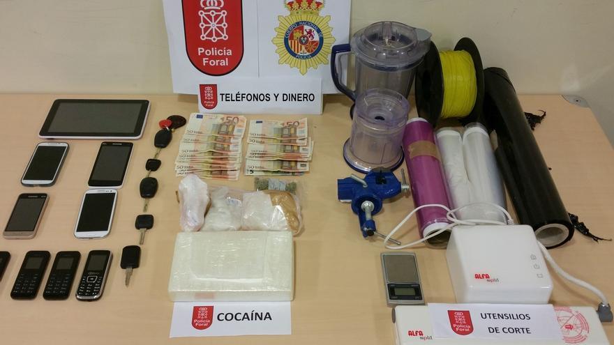 La Policía Foral detiene a una persona en Madrid con un kilo y medio de cocaína cuyo destino era Pamplona