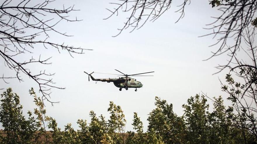 EI derriba un helicóptero militar ruso en  la provincia siria de Homs, según una ONG
