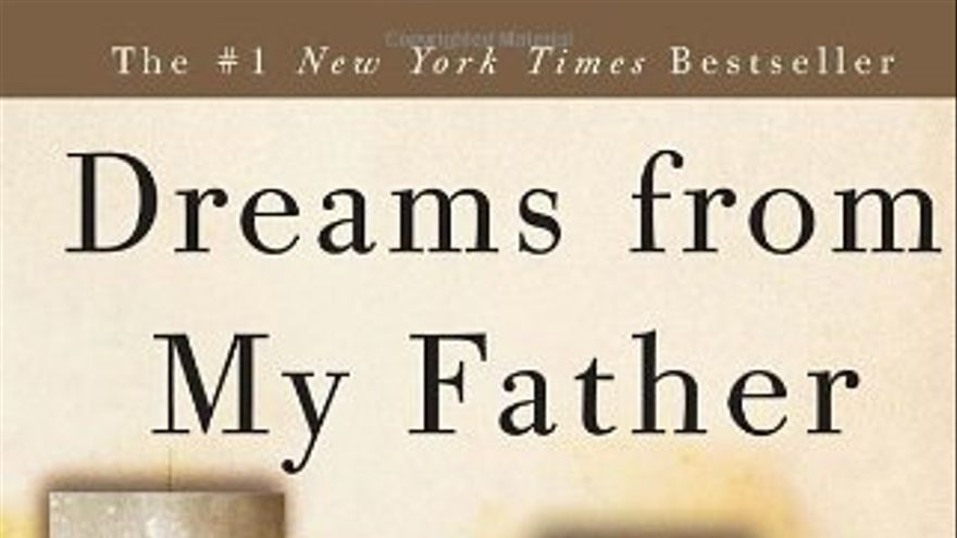 Portada de las memorias de Obama: Dreams from my father.