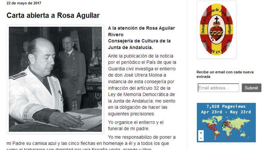'Carta abierta' de los hijos de Utrera Molina.