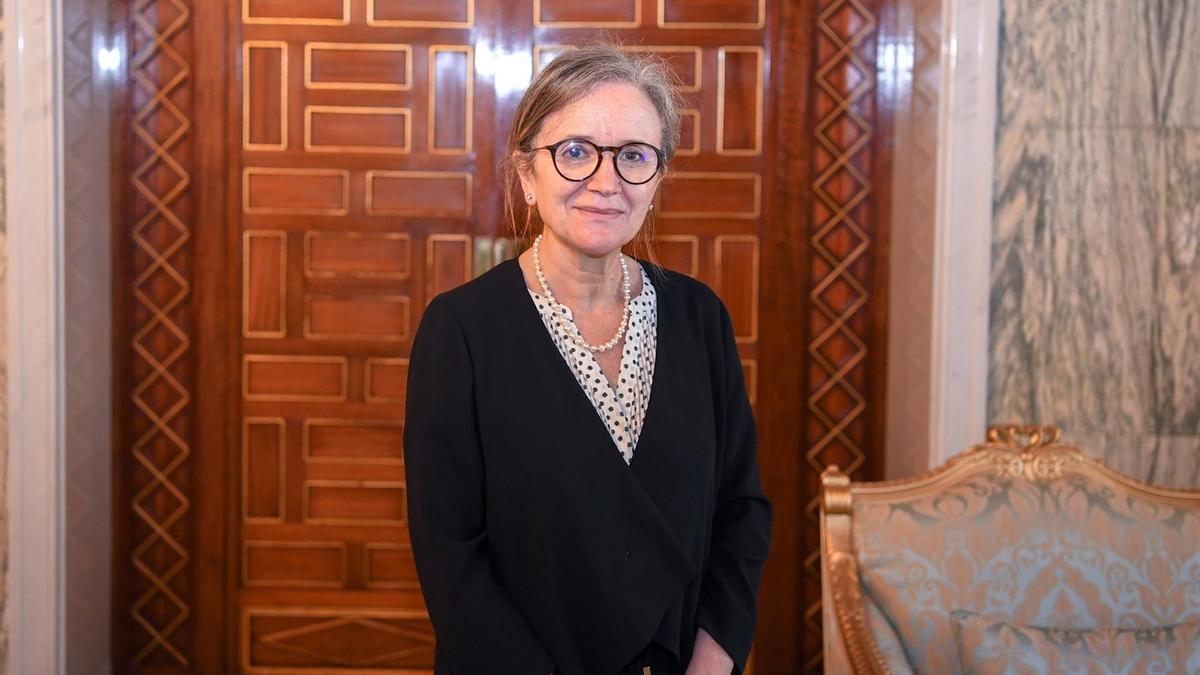 La primera ministra de Túnez, Najla Bouden, el 29 de septiembre.