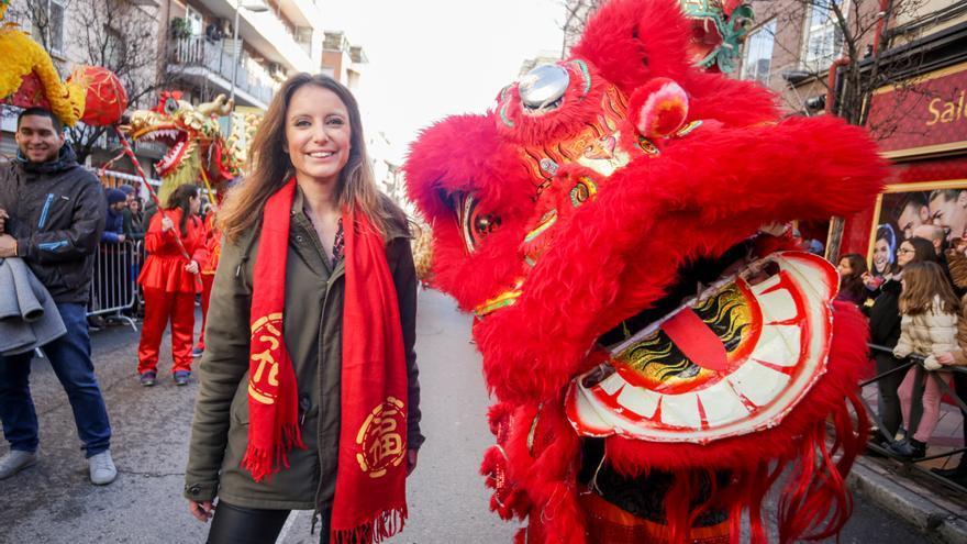 La concejala Andrea Levy en la celebración del año nuevo chino. / Ricardo Rubio / Europa Press