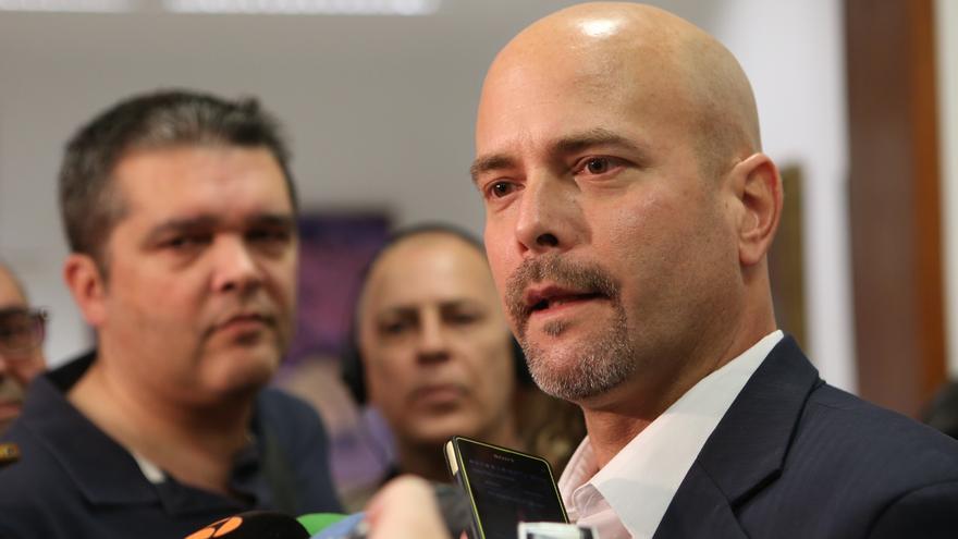 Gerardo Hernández, agente cubano que estuvo preso en Estados Unidos durante 16 años, en su visita al Cabildo de Gran Canaria