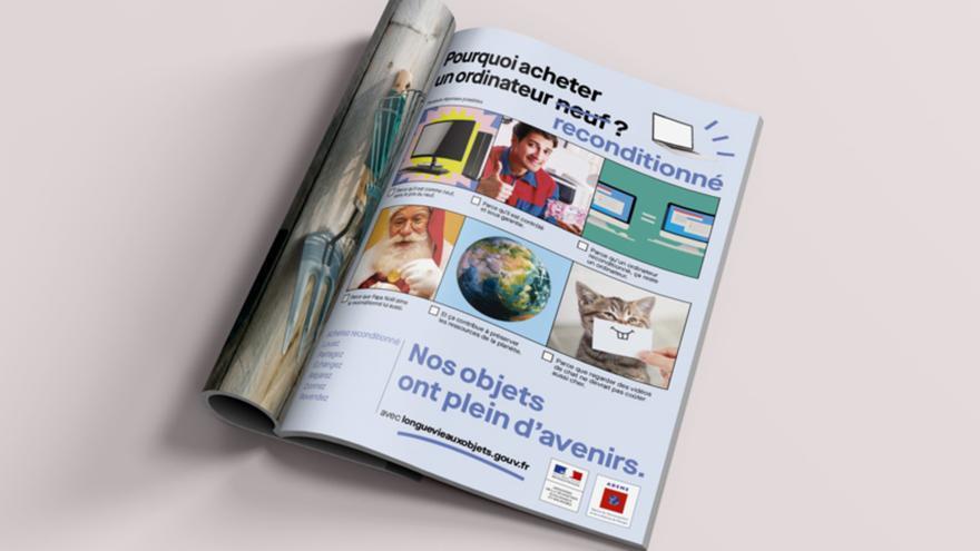 Publicidad de la campaña realizada en Francia para alargar la vida de los productos.