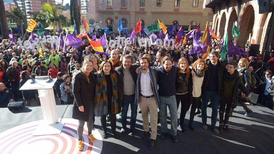 Acto central en Catalunya En Comú Podem en Nous Barris