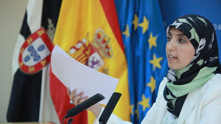 La diputada autonómica Fátima Hamed Hossain, en Ceuta