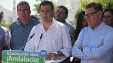 """Moreno dice que Díaz está en Madrid """"en contra de frentes al PP"""" y en Andalucía """"los monta"""""""