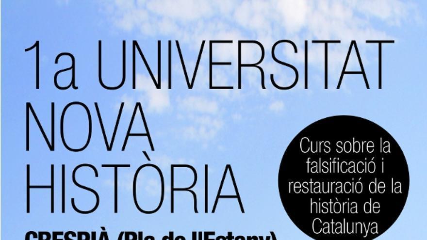 Cartel del curso en el que se aseguró que Cervantes era catalán / INH
