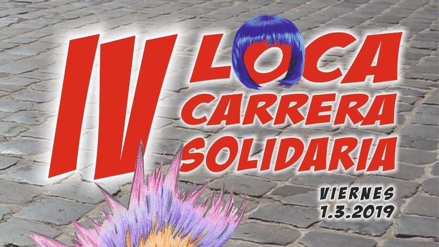 Cartel de la 'IV Loca Carrera Solidaria'.