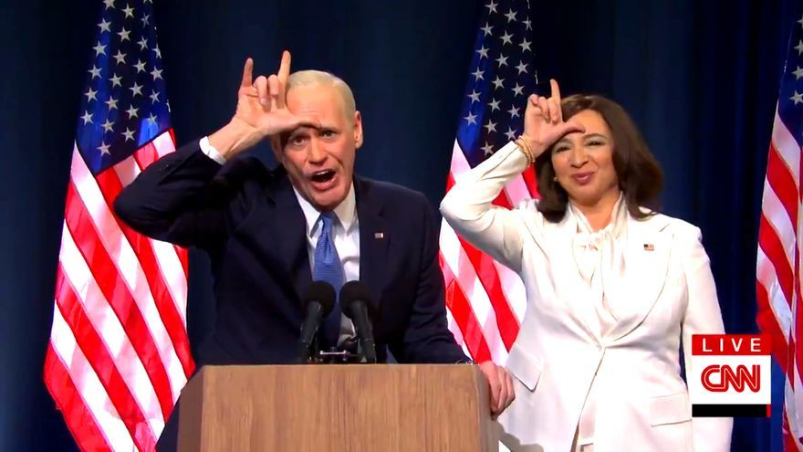 Los Biden y Kamala Harris de 'SNL'