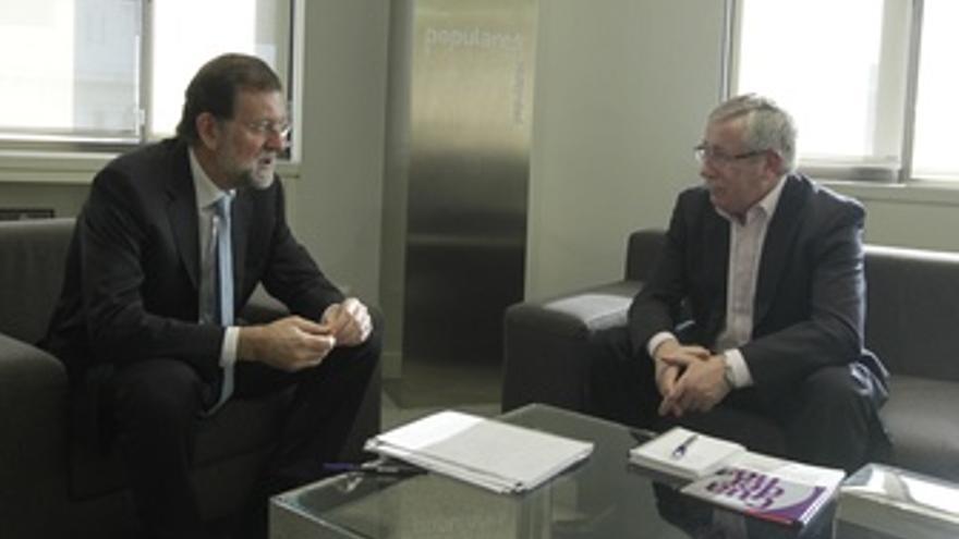 Rajoy Y Toxo En Génova