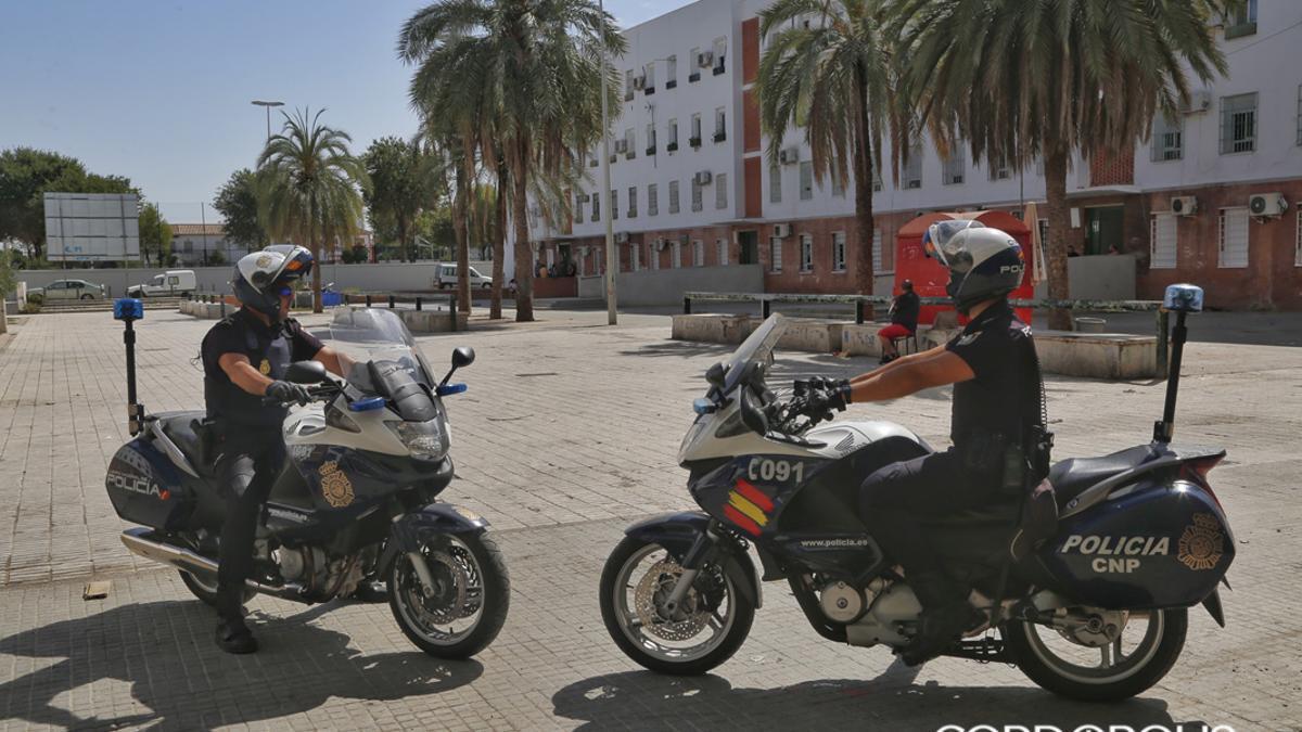 Agentes de Policía Nacional en Las Palmeras