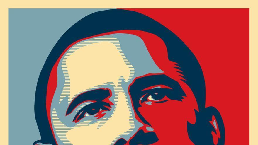 Hope, el cartel de Shepard Fairey para la campaña de Obama en 2008