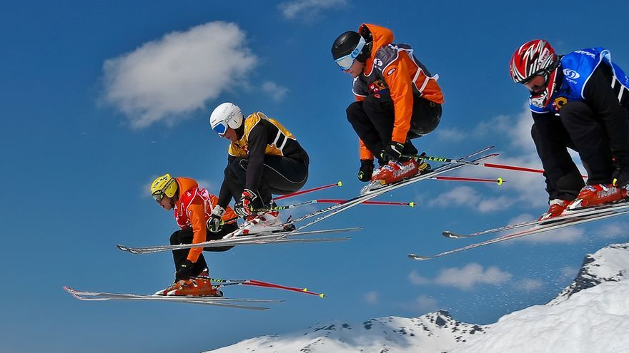 El ski cross es una especialidad especialmente espectacular.