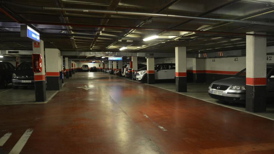 Interior del aparcamiento de República Dominicana