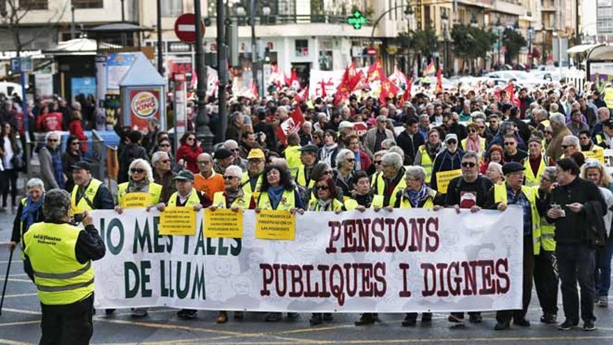 Un momento de la manifestación de este sábado en Valencia