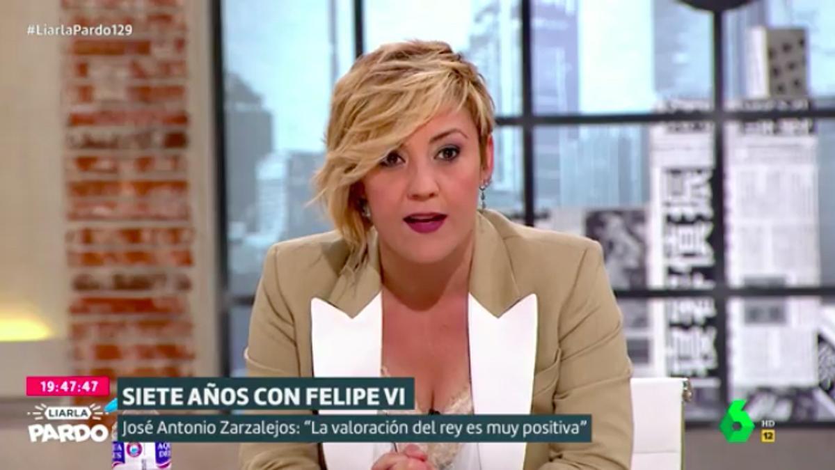 Cristina Pardo comentando la última hora sobre el rey emérito