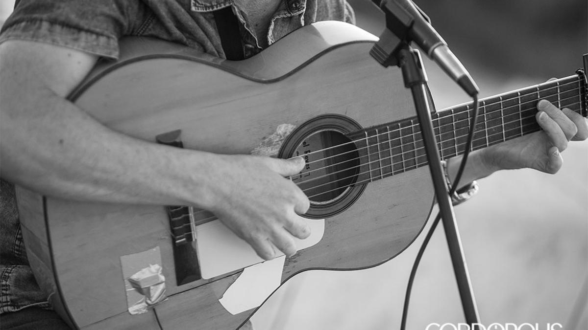 Un músico actuando en una calle de Córdoba