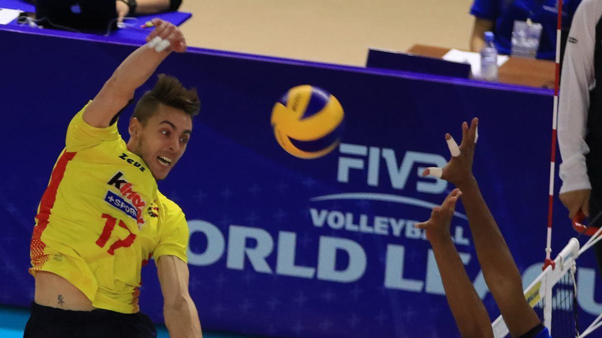 Fran Ruiz, en un partido con la selección española
