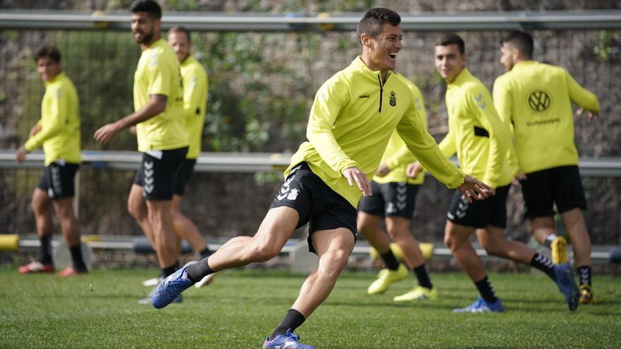 Mantovani, en el entrenamiento previo al duelo de Soria