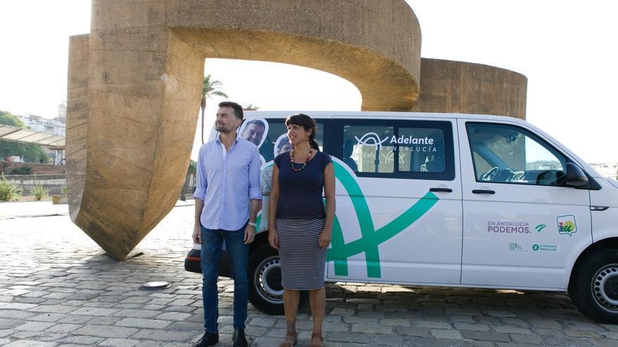 """Teresa Rodríguez y Antonio Maíllo proponen con 'Adelante Andalucía' un proyecto """"que mira al futuro y piensa en andaluz"""""""