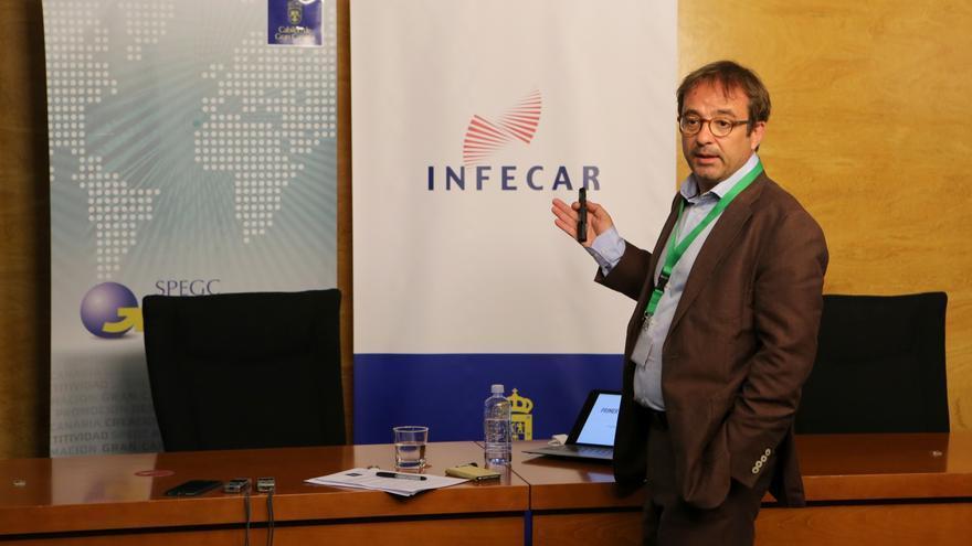 El consejero de Desarrollo Económico, Energía e I+D+i del Cabildo de Gran Canaria, Raúl García Brink