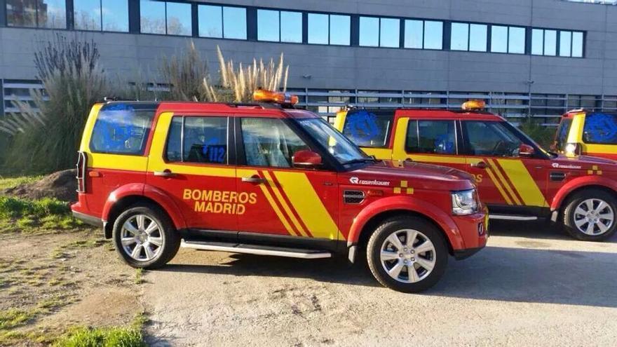 Coche de mandos de los bomberos de Madrid.