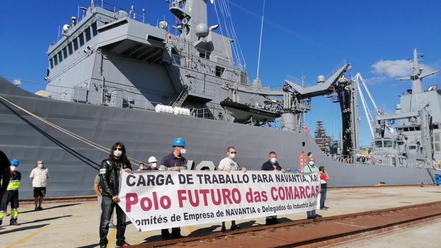 Los operarios de Navantia Ferrol piden más carga de trabajo