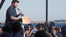 Gabriel Rufián en un acto de la pasada campaña