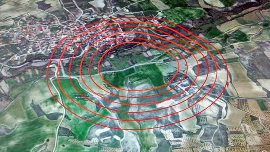 Imagen de la distancia de la explotación intensiva al municipio