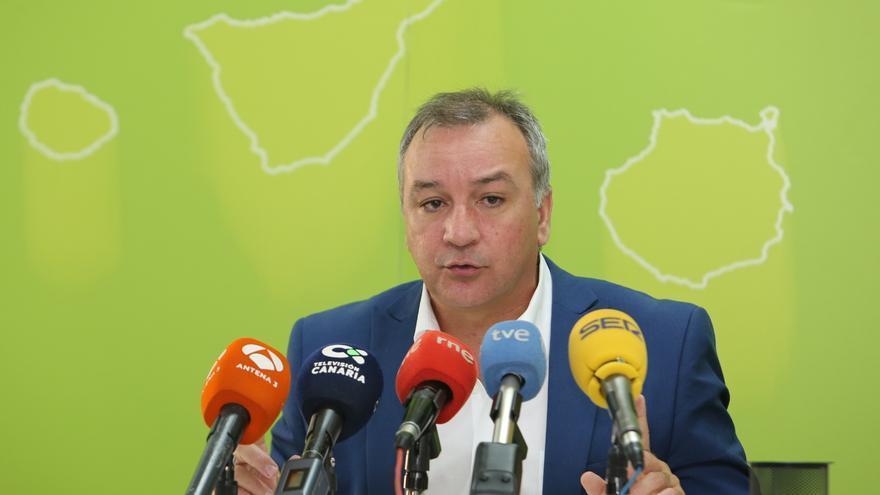El portavoz adjunto de Nueva Canarias (NC) en el Parlamento, Luis Campos