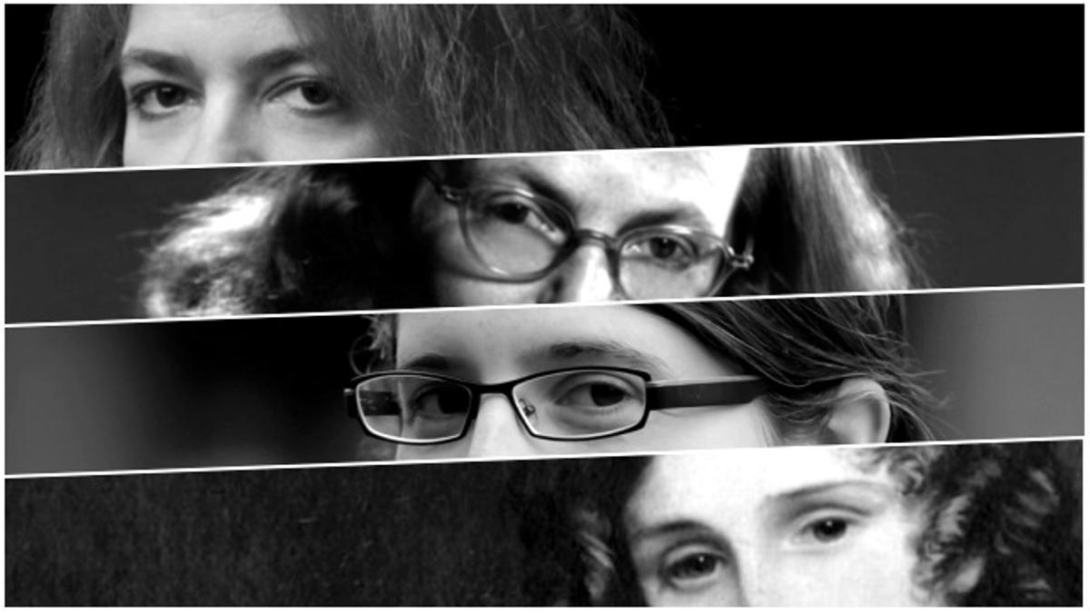 De arriba abajo: Mariana Enríquez, Shirley Jackson, Sarah Moss y Mary Shelley