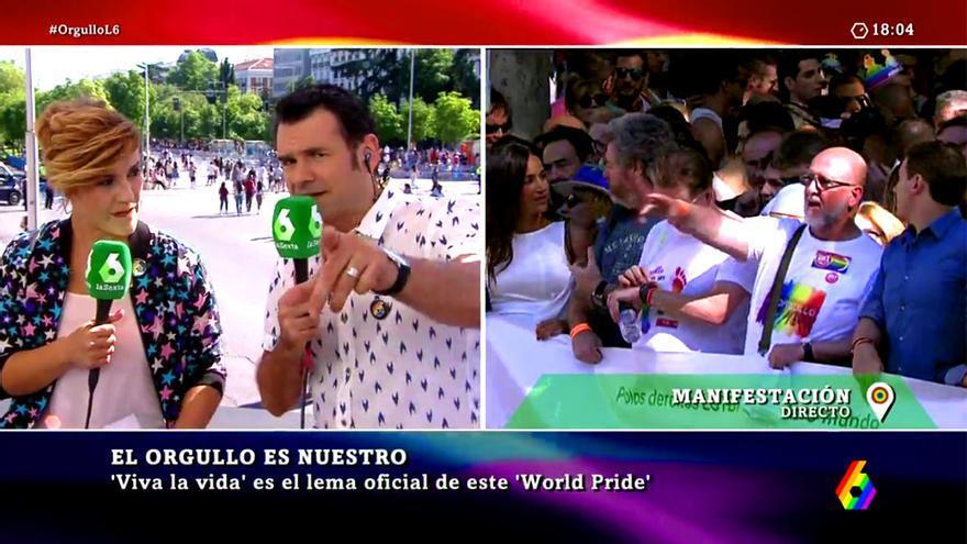 Animada foto de Ferreras y zasca de Iñaki López a una homófoba en el Orgullo