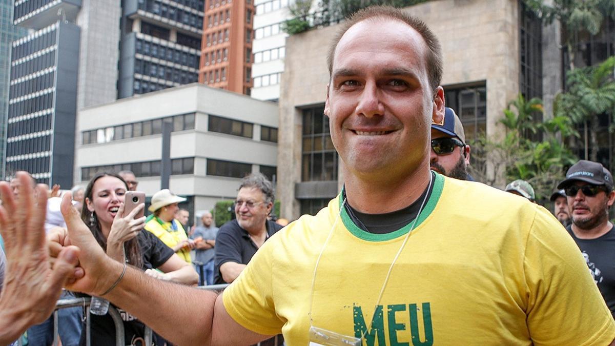 Eduardo Bolsonaro, hijo del presidente de Brasil.
