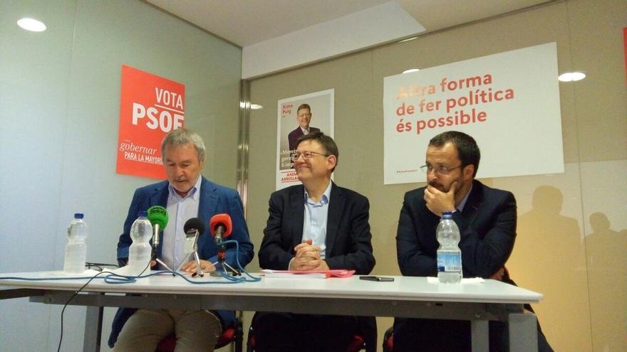 """Ximo Puig pide a los votantes """"honrados"""" del PP que confíen en el PSPV porque es """"la hora de la decencia"""""""