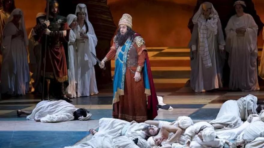 Imagen de la acutación de Plácido Domingo en el Palau de les Arts