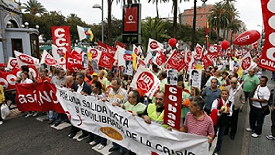 Protesta en la capital grancanaria. (ACFI PRESS)