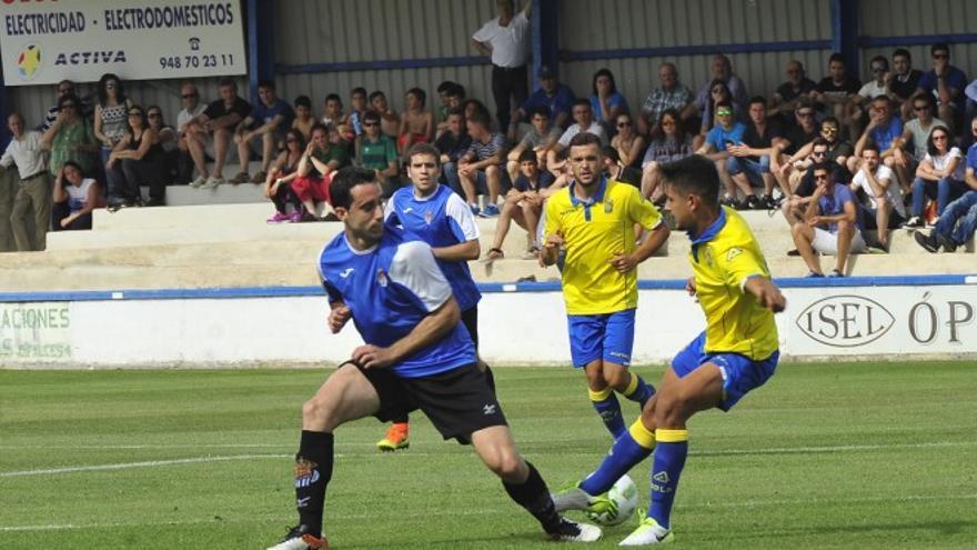 Encuentro entre Las Palmas Atlético y el Tafalla en el que el filial certificó la vuelta a Segunda B