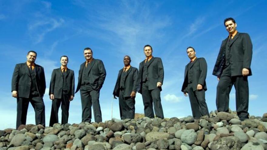 El grupo musical 'Vocal Siete'.