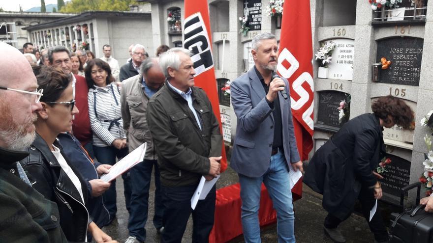 Homenaje en Pamplona a Gregorio Angulo y José Roa, dirigentes de PSN y UGT fusilados en 1937
