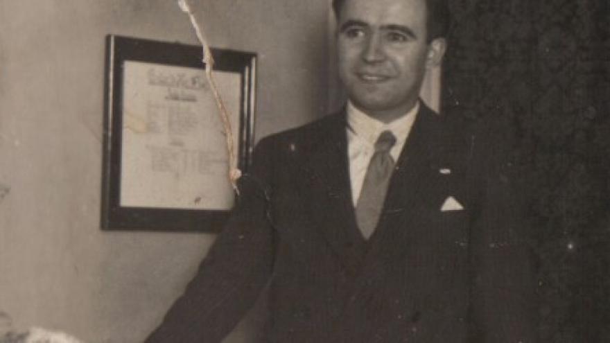 Alexandre Bóveda, en una imagen de la Revista Murguía