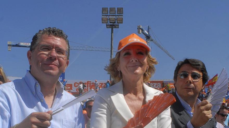 Francisco Granados, Esperanza Aguirre e Ignacio González, en una imagen de archivo.