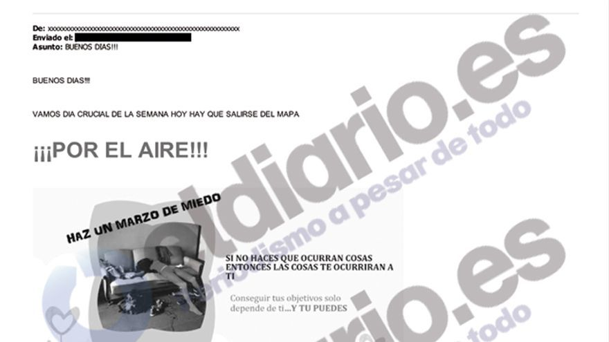 Captura del correo de Securitas Direct.