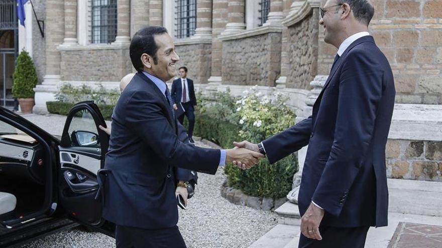 El ministro catarí de Exteriores rechaza en Roma negociar una lista de demandas