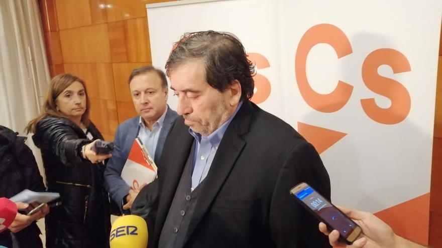 El presidente de la gestora de Ciudadanos, Manel García Bofill, en la Asablea Extraordinaria de Valladolid