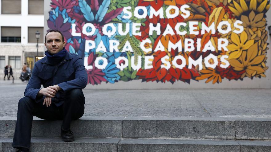 Luis Alegre, en el barrio de Lavapiés de Madrid.